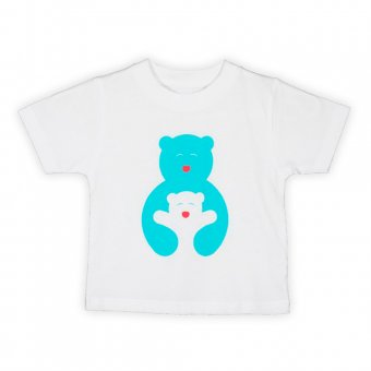 T-shirt til børn m. Bamsekram, 4-6 år