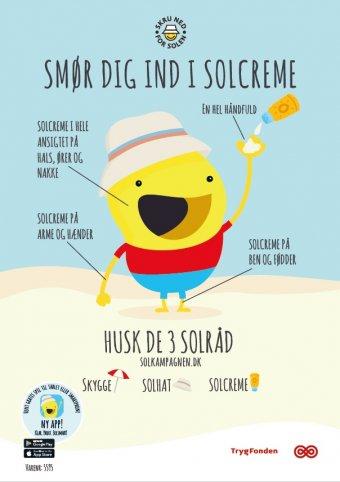 Solsmart plakat: Smør dig ind (A3, Falset)