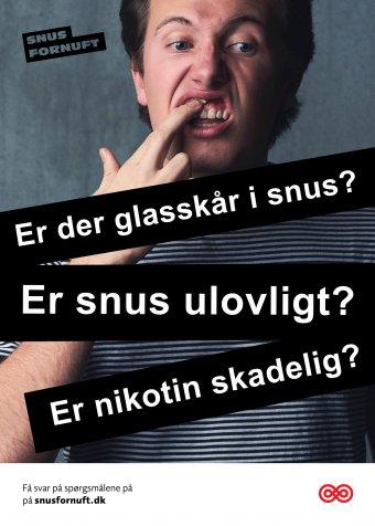 Plakat: Spørgsmål om snus