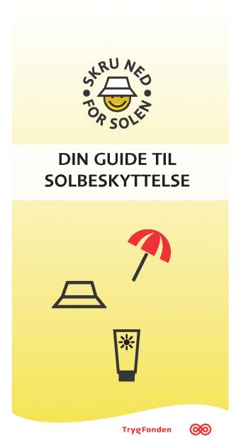 Din guide til solbeskyttelse, folder