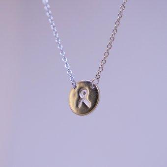 Halskæde med sløjfeplade, sølv