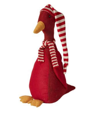 Olav juleand, rød, 29 cm