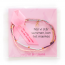 Støt Brysterne armbånd med sløjfe - lyserød