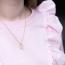 UDSOLGT - Sløjfe halskæde med perle, guld